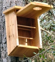 GardenWeb - Roost box that doubles as a nesting box great protection for sleeping birdies. Warm place to sleep or rest during cold winter also!  Hot glue some thin styrofoam to the sides and top as added insulation!