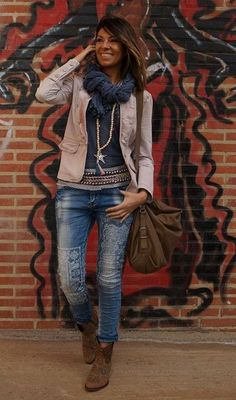 Luv the whole outfit Trendy Outfits, Fall Outfits, Cute Outfits, Fashion Outfits, Womens Fashion, Look Fashion, Winter Fashion, Look Boho, Bohemian Style