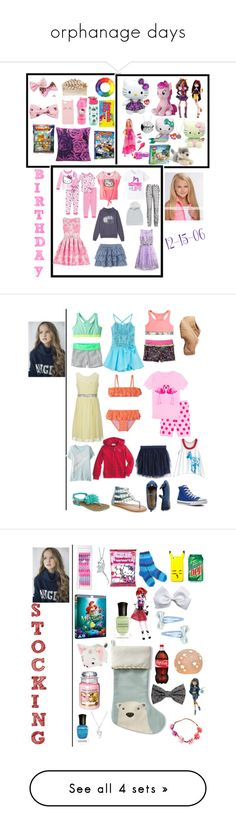 """""""orphanage days"""" by laylaitaly ❤ liked on Polyvore featuring Hello Kitty, Miriam Haskell, Charlotte Russe, Zak! Designs, River Island, Pusheen, Hard Candy, Bardot Junior, Disney and Marvel"""
