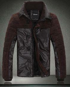 $119.24  Mens Parka Coat Fashion Plaid Zipper Stand Collar Pockets Long Sleeve Mens Winter Parkas Discount Online Shopping