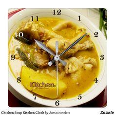 Chicken Soup Kitchen Clock