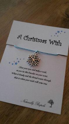 Christmas wish stocking filler I believe santa's christmas wish xmas wish christmas wish bracelet wish bracelet snowflake #christmas #christmas #eve