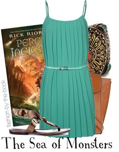 Outfit inspired by the new cover of Rick Riordan's The Sea of Monsters