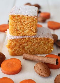 Bizcocho de zanahoria y almendra – elpucheretedemari Gourmet Desserts, Dessert Recipes, Plated Desserts, Food Cakes, Cupcake Cakes, Bread Cake, Almond Cakes, Bakery Recipes, French Pastries