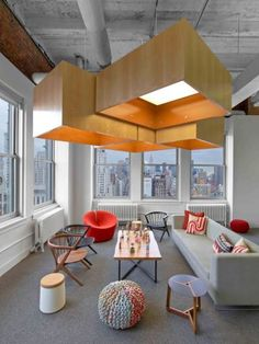 Inside Hudson Rouges Inspiring, New York City Ad Agency office space, office design, office interiors Best Office Design, Cool Office, Office Interior Design, Interior Design Inspiration, Office Decor, Office Furniture, Luxury Furniture, Small Office, Office Ideas