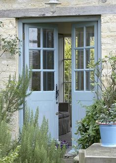 Looking for new trending french door ideas? Find 100 pictures of the very best french door ideas from top designers. Style Cottage, French Country Cottage, French Farmhouse, French Country Decorating, Country Charm, Country Cottages, Country Blue, French Country Colors, French Country Exterior