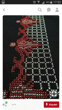This Pin was discovered by HUZ Cross Stitch Borders, Cross Stitch Designs, Cross Stitch Patterns, Prayer Rug, Weaving Patterns, Bargello, Filet Crochet, Beaded Flowers, Fun Projects