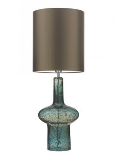 lamp base - Verdi Indigo Blue Table Lamp - Mould blown glass with volcanic frit, lava and marble textures and patinas creating a stunning form. Dora The Explorer, Kids Blackout Curtains, Custom Shades, Lamps For Sale, Black Table Lamps, Lokal, Marble Texture, Lamp Design, Lighting Design