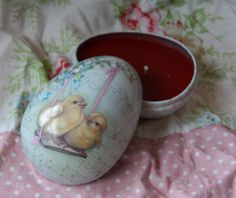 Upcycled Spring Egg Candle