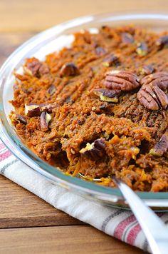 healthy sweet potato casserole | vegan + gluten-free