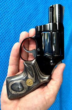 Custom Colt Cobra .38 Special, beautiful grips with gold medallions