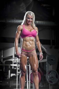 "femalemuscletalk: ""Do I look pretty in pink? It's my favorite color and I might get some pink tattoo's. Her name is Mikaela Strand http://bit.ly/10U4NH ‪#‎female‬..."
