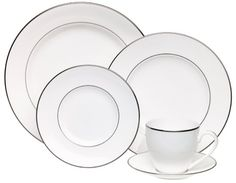 @Overstock   This Signature Lenox Place Setting Features A Federal Platinum  Pattern On White Bone China. The Simple, Classic, Beautiful Design Of Tu2026