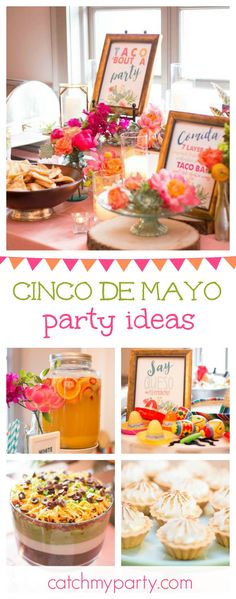 Time for Fiesta with this stunning Cinco de Mayo celebration! The party food is amazing!! See more party ideas and share yours at CatchMyParty.com