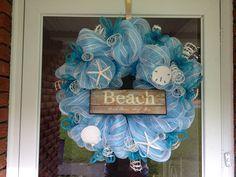 Ocean wreath   Beach theme wreath by SimplyAdoorable12 on Etsy