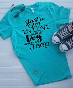 Just A Girl In Love With Her Dog And Her Jeep - Unisex T-Shirt Plus Size