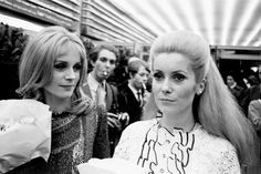 Françoise Dorléac and Catherine Deneuve at the premiere of The Young Girls of Rochefort, 1967.