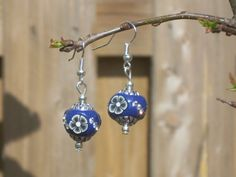Blue Boho Earrings Hippie Earrings Boho by TwiggyPeasticks on Etsy