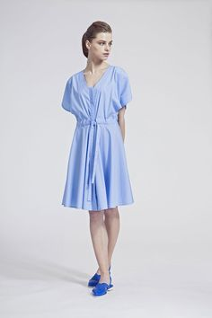 IMRECZEOVA SS16 baby blue shirt dress Baby Blue Shirt, Blue Shirt Dress, Ss16, Casual, Shirts, Dresses, Fashion, Gowns, Moda