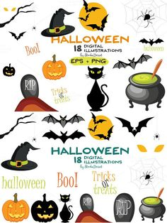 Halloween - digital illustrations. Printables. $9.00