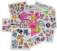 My Little Pony Temporary Tattoos – 75 Tattoos – Twilight Sparkle, Rainbow Dash, Fluttershy, Pinkie… Princess Celestia, Princess Luna, My Little Pony Birthday Party, 2nd Birthday, Birthday Ideas, Rarity And Spike, My Little Pony Stickers, Hasbro My Little Pony, Dragon Princess