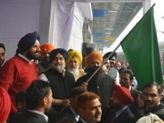 A special train carrying pilgrims from Gill constituency to Sri Hazoor Sahib (Nanded) was flagged off by Chief Parliamentary Secretary Darshan Singh Shivalik and Deputy Commissioner Ravi Bhagat from Railway Station, Ludhiana on Monday. This train, under Punjab government's `Chief Minister Tirath Darshan Yatra Scheme', is carrying more than 1050 pilgrims and some government officials. #Punjab #News