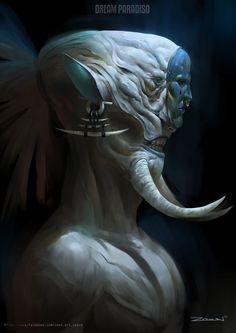 ArtStation - Dream Paradiso_concept art_Warrior, Zeen Chin