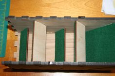 Interior of Dice Tower Before Back Wall Is Applied   BoardGameGeek