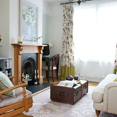 Trunk coffee table in traditional living room   Living room storage ideas   PHOTO GALLERY   Housetohome.co.uk