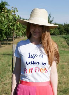 Life is better in FLIP FLOPS tee by RariTees on Etsy