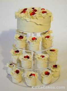 white choco wedding cake