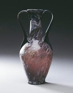 Roman civilization, 1st century A.D. Purple white-veined glass amphora. From Pompei. Naples, Museo Archeologico Nazionale (Archaeological Museum)