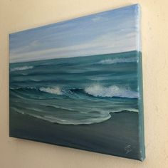 Buy Mint Green, ocean wave oil painting by Eva Volf, Oil painting by Eva Volf on Artfinder. Discover thousands of other original paintings, prints, sculptures and photography from independent artists. Paintings For Sale, Original Paintings, Beach Paintings, Green Ocean, Ocean Waves, Art Inspo, Sculptures, Art Pieces, Oil