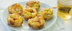 Mini Quiches met Salami - gemaakt in mini muffin vorm