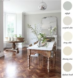Country home colour palette and two great #shabby #tables  www.waringsathome.co.uk