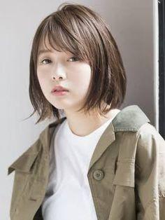 レイヤーボブ ミディアム - Google 検索 Cute Japanese, Japanese Girl, Medium Hair Styles, Short Hair Styles, Ash Hair, Kawaii Faces, Hair Reference, Short Bob Hairstyles, Hair Goals