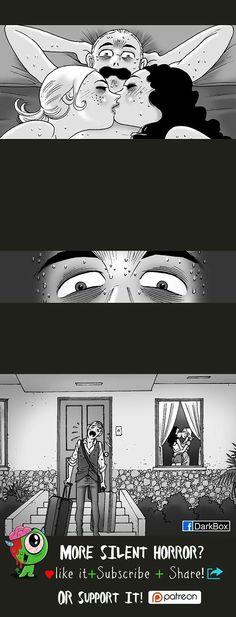 Silent Horror :: Lights On Silent Horror Comics, Scary Comics, Funny Comics, Scary Stories, Horror Stories, Haunting Hour, Horror Drawing, Horror Tale, Vampire Girls