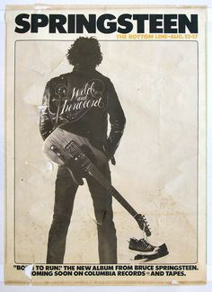 It's really the sneakers that make this what it is.    Springsteen poster