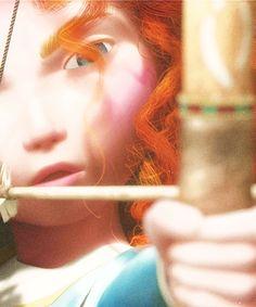 Merida - Brave looks like Katniss!!!