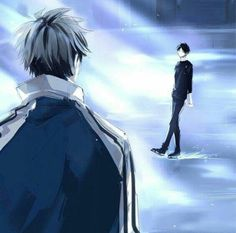 Yuri on Ice x Haikyuu crossover Cred to artist