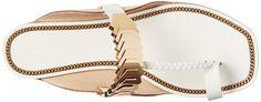 Rachel Zoe Ida Toe Ring Sandal in White