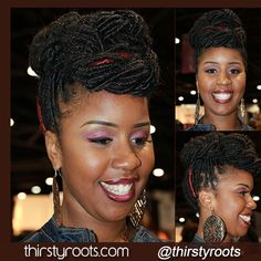 Silky Wrapped Loc Extension Hairstyle | thirstyroots.com: Black Hairstyles and Hair Care