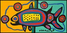 Norval Morrisseau Painting Techniques (Part VII) Inuit Kunst, Inuit Art, Kunst Der Aborigines, Group Art Projects, Canadian Art, Canadian Symbols, Woodland Art, Native American Artwork, Haida Art