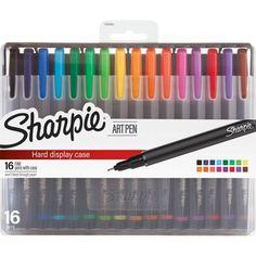 Sharpie Art Pens - Fine Point - 16 Count - Assorted Colrs - New Hard Case Fine Point Pens, Fine Pens, Sharpie Pens, Sharpies, Stationary School, Cute School Supplies, Best Pens, Marker Pen, Pen Sets