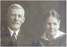 """A photo of Marvin A. Clark and an unidentified woman (probably his wife Mary). Read more on the GenealogyBank blog: """"DNA Needed to Solve One of the Oldest Missing Persons Cases."""" http://blog.genealogybank.com/dna-needed-to-solve-one-of-the-oldest-missing-persons-cases.html"""