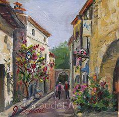 Original Painting Architecture Impressionist by JBeaudetStudios, $125.00
