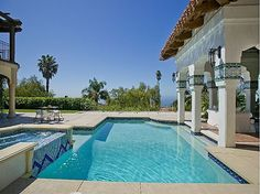 spanish cabana pools | We love this Spanish Mediterranean outdoor ... | Favorite Places & Sp ...