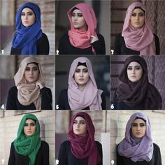 9 Shades Of Hijabs By Haute Elan