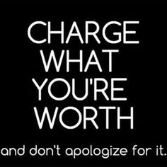 #Trainers and #Coaches #entrepreneur but also know your worth!