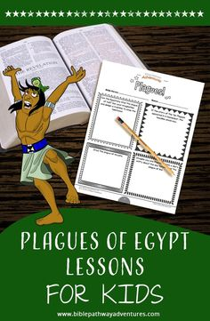 Moses and the Ten Plagues printable Bible Activity Book for Kids. Learn all about the Ten Plagues, the Passover, and Unleavened Bread. Bible Stories For Kids, Bible Crafts For Kids, Bible Lessons For Kids, Bible Activities, Color Activities, Moses Plagues, Sunday School Kids, Homeschool Curriculum, Homeschooling